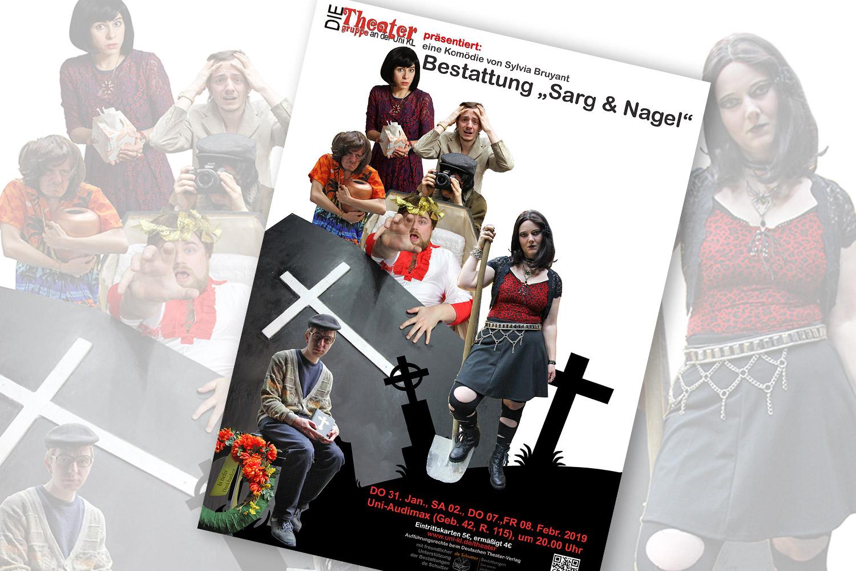 """Permalink to:Wir unterstützen das Theaterstück """"Sarg und Nagel"""""""