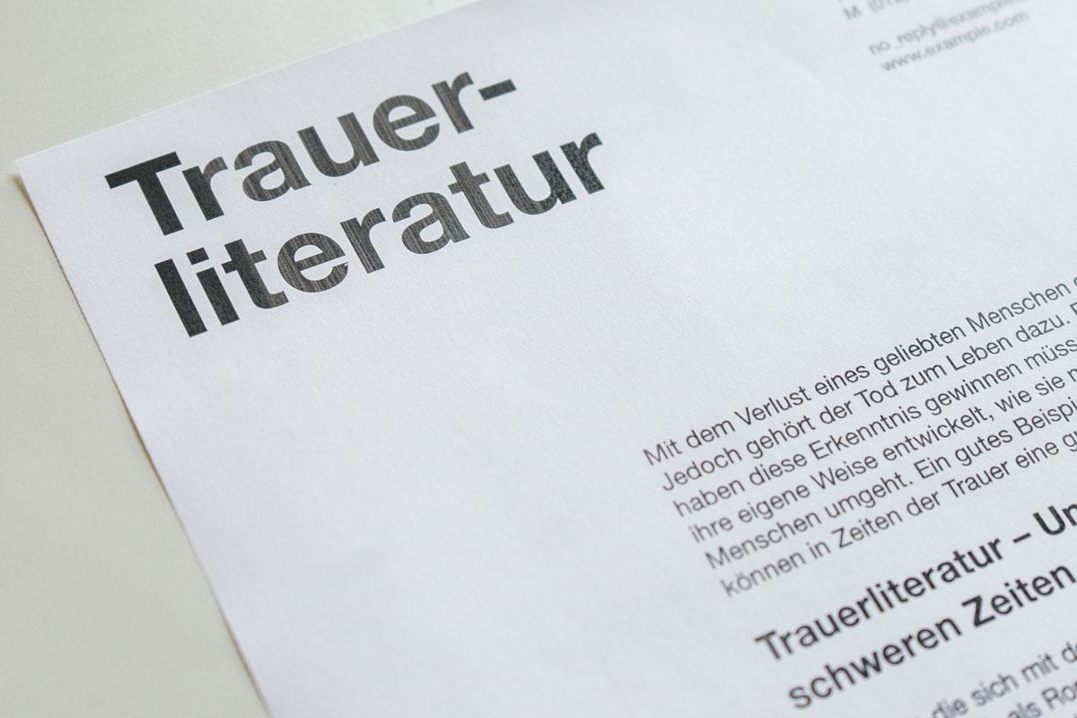 Permalink to:Trauerliteratur – Kraft tanken mit Hilfe von Büchern